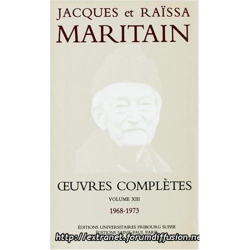 Oeuvres complètes de Jacques Maritain (21 avril 1993) Broché