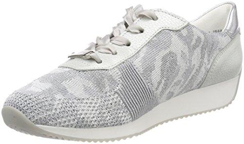 Ara Lissabon, Zapatillas para Mujer, Plateado (Camu-Silber,Bianco/Silber 39), 39 EU