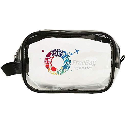 Freebag Trousse de Toilette Transparente pour Avion en PVC...