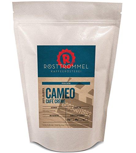 Granos de café CAMEO - Caffè crema - edición especial-casa de la asación alemana del año-chocolatey, fuerza media, grano de café asado a mano cremoso - ideal para la máquina automática del café (1000 gramo)