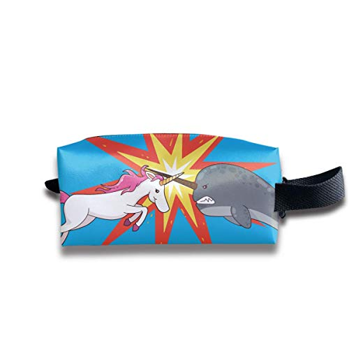 Cute Uniforms and Narwhal Women Cosmetic Bag Travel Girls Oxford Toiletry Bags Funny Portable Hanging Organizer Makeup Pouch Pencil Case - Pe-uniformen