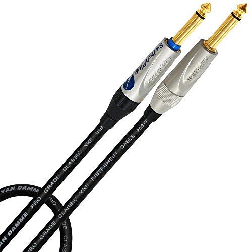 3Metri-Van Damme Pro Grade classico strumento di XKE-Amphenol spina silenziosa placcata oro, Chitarra, Basso, Strumento-Cavo dritto da (Silent Plug) Œ