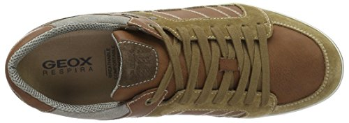 Geox U Box F, Baskets Basses Homme Marron (Desert/Cognacc5L6N)