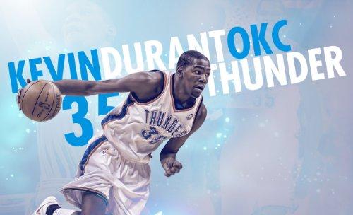 Kevin Durant OKC Thunder Basketball Limited, Foto, 10 x 8