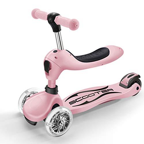 Dreiradscooter Scooter Jungen-Roller mit verstellbarem Sitz, Leichter Tretroller mit leichteren Rädern, 2-7rd Kids Outdoor Sports