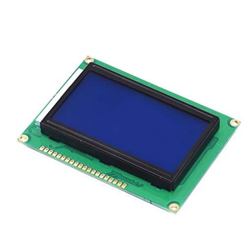 Preisvergleich Produktbild Lidahaotin 5V 12864 LCD-Display-Modul 128x64 Dots Grafik-Matrix-LCD-Blaue Hintergrundbeleuchtung Brett