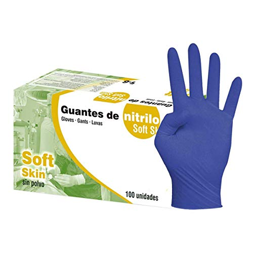 Guantes Nitrilo Sin polvo soft Skin talla
