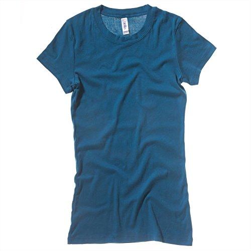 Bella+Canvas Schiere Rippe Rundhals -T-Shirt - Teal - UK 16 / US 12 / EU 44 - Schiere Belle