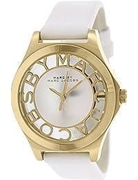 Marc Jacobs MBM1339 - Reloj para mujeres, correa de cuero color blanco