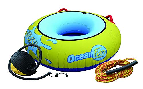 Tube de remorquage Splash Pneu à Trainer Anneau de remorquage Fun-Tube bouée tractable avec Pompe et Corde de 15 m