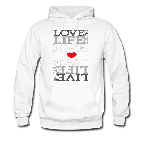 HKdiy live the life you love Custom Men's Classic Hoodie White