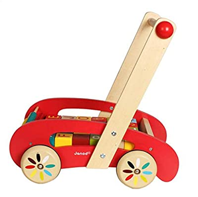 MSSugar Aktivität Walker Baby Walker Baby Kleinkind Walker Holz Baby Intellektuelle Kleinkind Abacus Bausteine Infant Trolley