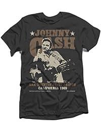 Johnny Cash - Herren Outlaw Finger T-Shirt