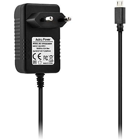 Aukru Micro USB 5V 2500mA Cargador Adaptador para Raspberry Pi 3 Model B y Raspberry Pi 3 Model B