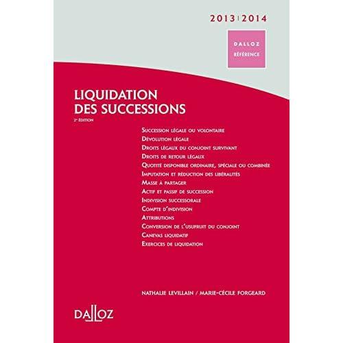 Liquidation des successions 2013/14 - 2e éd.