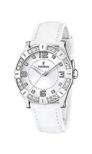 Reloj FESTINA mujer correa de piel blanca (F16537/1)