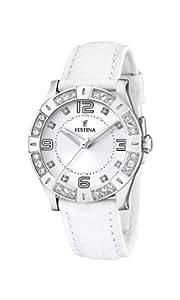 Festina Damen-Armbanduhr Analog Quarz Edelstahl F16537-1