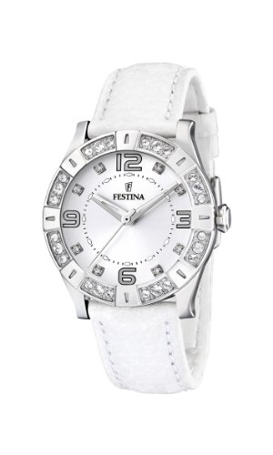 Festina Ladies Watch F16537/1 With White Strap And Cz