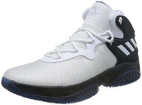 adidas Unisex-Erwachsene Explosive Bounce Basketballschuhe, schwarz-(Negbas/FTWBLA/AZUCAP), 43 1/3 EU