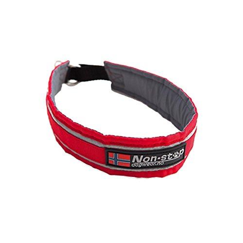 NON-STOP Halsband HALF CHOKE COLLAR mit Zugstopp für Hunde Rot 55,0 cm