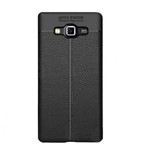 Auto Focus TPU Flexible Shock Proof Samsung Galaxy On 7/ On7 Pro Back Cover, Leather Pattern Armor Soft Back Case Cover for Samsung Galaxy On 7 Pro / Samsung On7