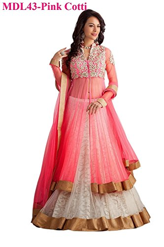 Attire Design lehenga choli for women (Lehenga_Free_Size _Pink_Colour)