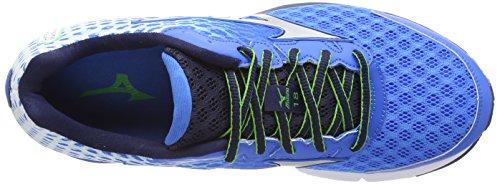 Mizuno Wave Rider 18, Chaussures de running entrainement homme Bleu (electric Blue/lemonade)