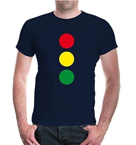 buXsbaum® T-Shirt Lichtsignalanlage-Ampel Navy-z-direct
