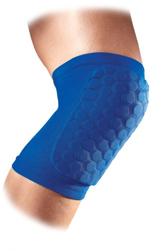 McDavid 6440 Hexpad Compression Support Knee/Elbow/Shin Pads 1 Pair Royal Medium