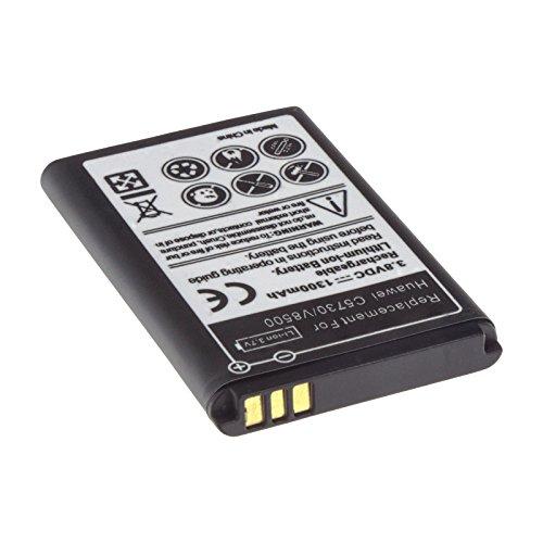 MTEC Akku *1300mAh* für Huawei C5730 C8000 C8100 E5805 EC5808 HB5A2H HiQQ M228 M636 M750 T550 T550+ T552 U1860 U3100 U7510 U7519 U7519 U7520 U8100 U8110 U8500 / MOT EX300 PINNACLE 2 Pulse Mini / VERGE M570 / T-Mobile Tap / ersetzt Originalakku Bezeichnung: BTR7519 HB5A2H CS-HUM750SL