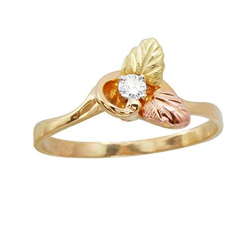 0,1Karat natürlicher Diamant 14ct drei Tone Verlobungsring für Frauen Drei Diamant-verlobungsring