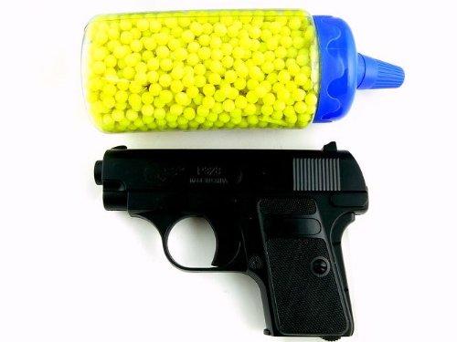 Softair-Pistole Set inkl. 2000 Kugeln 6 mm schwarz Kinder-Pistole Spielzeug-Pistole Air-Soft unter 0,5 Joule ab 14 Jahre