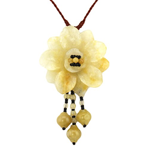 mountain-gemstone-flower-pendant-crimson-orange-soft-adjustable-necklace