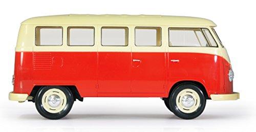 RC Auto kaufen Spielzeug Bild 4: Jamara 405119 - VW T1 Classic Bus 1:16 1963 2 Kanal 2,4GHz - LED, detailgetreuer Innenraum, Fahrzeugdetails in Chrom: Scheibenwischer, Radkappen, Außenspiegel, Türgriffe, Scheinwerfereinfassungen*