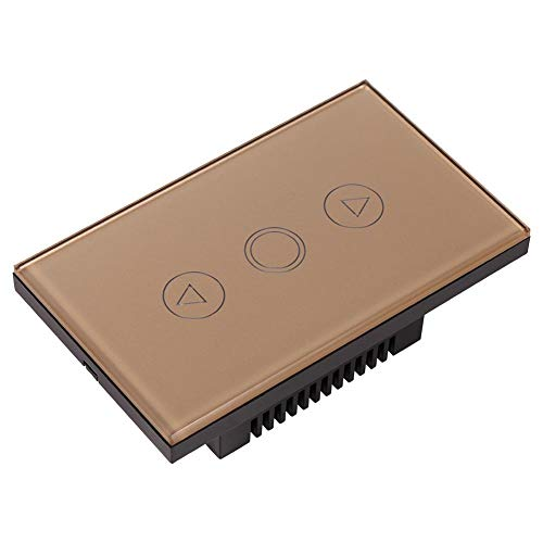1 Weg Kristallglasscheibe Dimmer Touch Glühlampe LED Wandschalter AC110-240V(Gold) (Lichtschalter Dimmer Installieren)