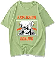 My Hero Academia T-shirt,Anime Print Round Neck Cotton Midoriya Izuku Short Sleeve Cosplay Tee Shirt Unisex