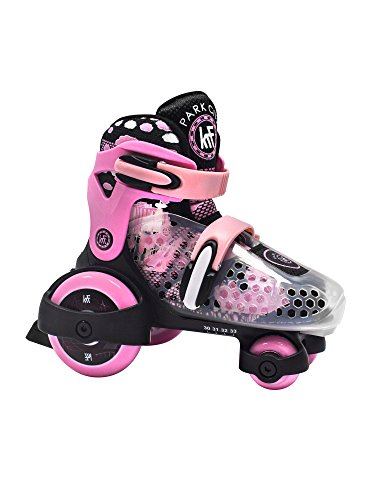 KRF The New Urban Concept Baby Quad Patines Ajustables, Bebé-Niñas, Rosa, 30-33