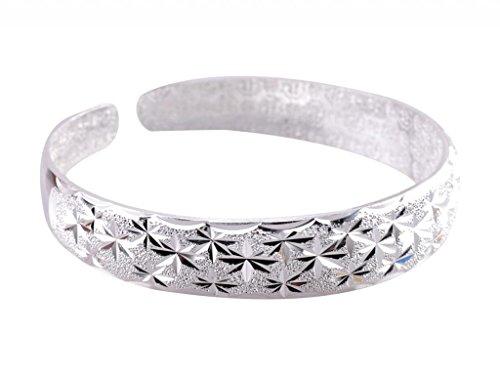 New IPINK-Bracciale Fashion Jewelry-Braccialetto placcato in argento, confezione regalo