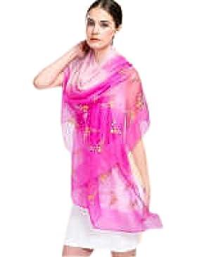Efudfj Seda Lady Shawl Colorido Gradiente Simple Cuidado De La Piel Luz Transpirable Bufanda Cómoda Cómoda,F:RosePowder