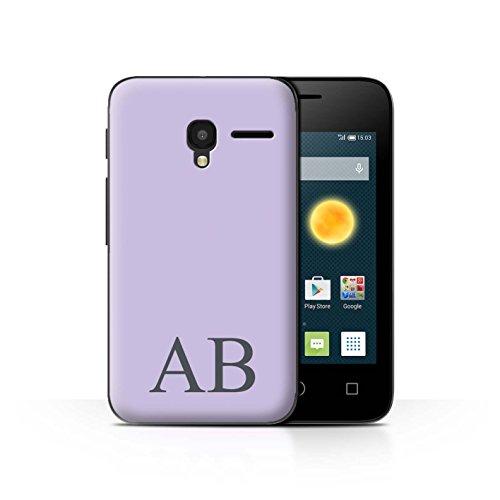 Personalisiert Pastell Monogramm Hülle für Alcatel OneTouch Pixi 3 3.5 / Lila Design / Initiale/Name/Text Schutzhülle/Case/Etui Alcatel One Touch Pp