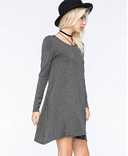 XJoel Loose Fit Tunique Robe pour Casual Work Cocktail Beach Lounge Sleep XL Gris (Senf Kind Kostüme)