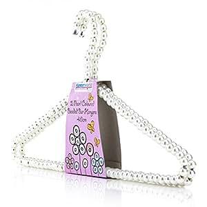 Hangerworld Lot de 12 cintres décoratifs en métal perlés pour vêtements/robes - 40cm