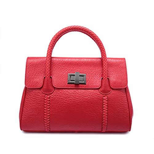 Honneury Frauen gewebt Ledertasche Casual Schulter Diagonal Cross-Body Fashion Leder Handtasche...