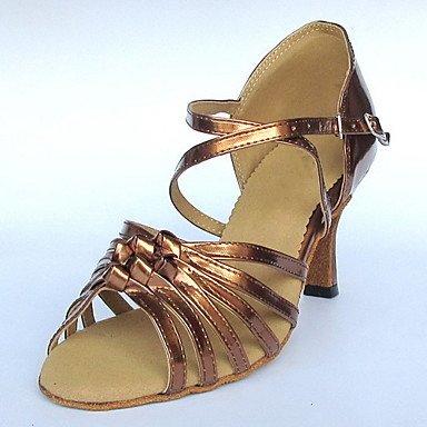 Scarpe da ballo - Disponibile su misura - Donna - Latinoamericano / Sala da ballo - Customized Heel - Vernice - Rosso Purple