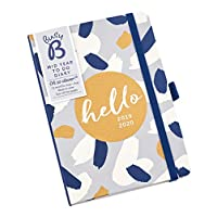 Busy B Mid-Year to Do Diary August 2019 - August 2020 - Grey/Blue Week to View A6 Diary with Notes and Tear-Out Lists