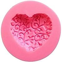 JUNGEN Dulce Encantador de múltiples Funciones de Forma de corazón de Silicona del Molde de la