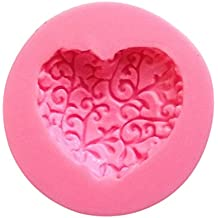 JUNGEN Dulce encantador de múltiples funciones de Forma de corazón de silicona del molde de la torta Decoración Fondant Sugar craft