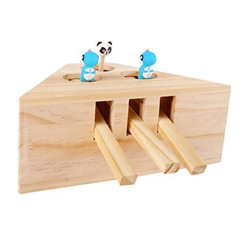 Dasongff Interaktives Spielzeug Für Katzen, Whack Mole Maus Katze katzenspielzeug Lustige Holz Puzzle Box Cat Übungsspielzeug Imitation Maulwurf Maus Cartoon Tiere Katzenspielzeug Jagd (A) (Kleidung Puzzle-stück)