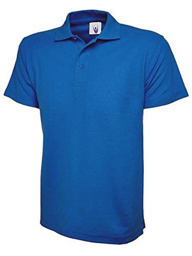 Plus Size - Polo da donna in piquet, taglie comode dalla 38alla 56,in tinta unita modello unisex Royal Blue