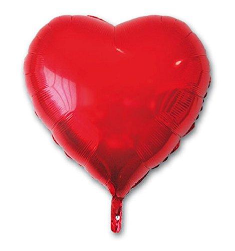 Party - Globo poliamida, corazón rojo, 49 x 46 cm (68424)